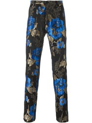 Christian Pellizzari Floral Jacquard Trousers Black