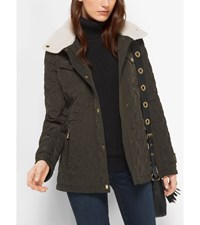 Fleece Collared Quilted Jacket