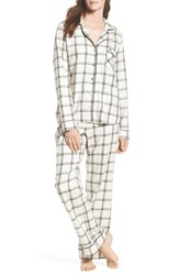 Ugg Raven Plaid Pajamas Cream Black