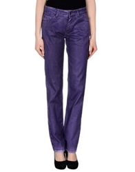 Pianurastudio Casual Pants Purple