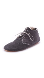 Anniel Slouchy Faux Shearling Booties Grey