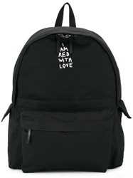 Ann Demeulemeester Embroidered Detail Backpack Black