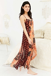 Staring At Stars Floral Maxi Slip Dress Rose