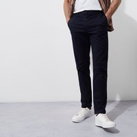 River Island Navy Blue Casual Slim Fit Chino Trousers