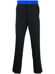 Haider Ackermann Contrast Waistband Cropped Trousers 60
