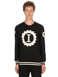 Hydrogen Garage Italia Logo Cotton Sweatshirt Black