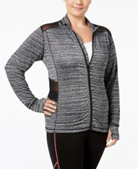 Material Girl Plus Size Active Jacket Only At Macy's Noir Sd