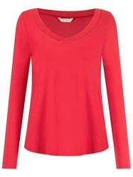 Lygia And Nanny V Neck Blouse Red