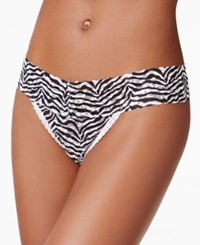 Maidenform One Size Lace Thong 40118 Sexy Grey Animal