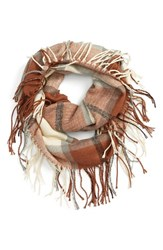 David And Young Women's Plaid Infinity Scarf
