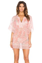 Parker Beach Palm Cover Up Coral