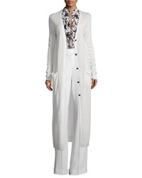 A.L.C. Smith Long Wool Cardigan White Size X Small