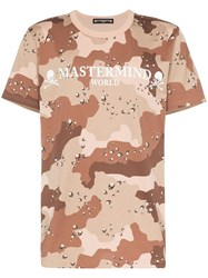 Mastermind Japan Camouflage Print T Shirt Brown