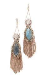 Theia Jewelry Athena Chandelier Earrings Antique Gold Multi