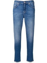 7 For All Mankind Vintage Robertson Straight Jeans Blue