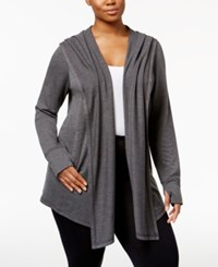 Ideology Plus Size Hooded Wrap Only At Macy's Charcoal Heather