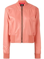 Paul Smith Ps By Sorbet Leather Bomber Jacket Pink Purple