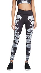 Terez Rorschach Leggings Black White