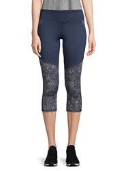 Marc New York Printed Cropped Leggings Midnight