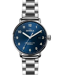 Shinola 43Mm Canfield Stainless Steel Watch
