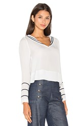 Tommy Hilfiger Gigi For Silk Sailor Blouse White
