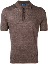 Barba Polo Shirt Brown