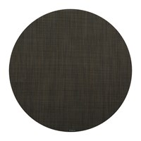 Chilewich Mini Basketweave Round Placemat Espresso