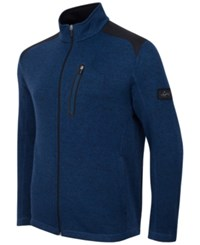 Greg Norman For Tasso Elba Men's Big And Tall Fleece Jacket Only At Macy's Blue Socket