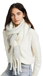 Free People Cameron Brushed Plaid Scarf Sky