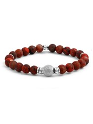 Tateossian Beaded Bracelet Red