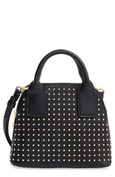Sole Society Amalia Studded Dome Faux Leather Satchel Black