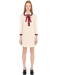 Gucci Ruffled Trim Heavy Stretch Jersey Dress