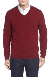 John W. Nordstromr Men's Big And Tall Nordstrom Cashmere V Neck Sweater Red Cordovan