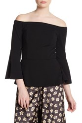 Abs By Allen Schwartz Off The Shoulder Bell Sleeve Blouse Black