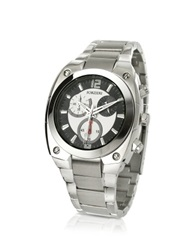 Forzieri Men's Stainless Steel Bracelet Chronograph Watch Silver