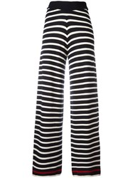 Chinti And Parker Knitted Breton Stripe Trousers Blue
