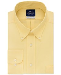Eagle Men's Classic Fit Stretch Collar Non Iron Solid Dress Shirt Yellow