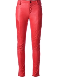 Pierre Balmain Skinny Trousers Red