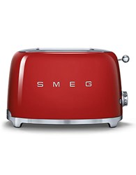 Smeg Two Slice Wide Slot Toaster Red
