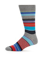 Saks Fifth Avenue Multicolored Cotton Blend Socks Charcoal