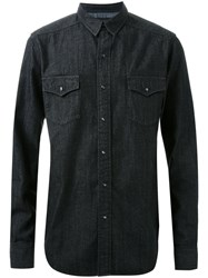 Hl Heddie Lovu Chest Pocket Denim Shirt Black