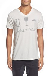 Men's Sol Angeles 'Handle With Care' Graphic V Neck T Shirt