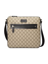 Gucci Gg Supreme Messenger Men Leather Nylon Canvas Microfibre One Size Nude Neutrals