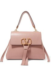 Valentino Garavani Vee Ring Small Leather Shoulder Bag Pink