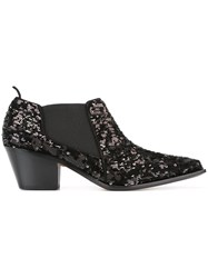 Sonia Rykiel Sequinned Low Boots Black