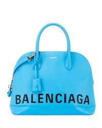 Balenciaga Ville Aj Leather Satchel Bag W Cape Leopard