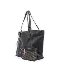 Lavand Tote Bag And Its Wallet Black