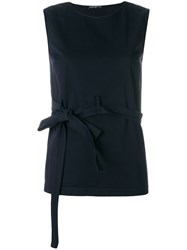 Department 5 Open Back Belted Top Blue