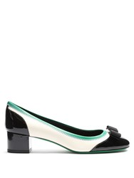 Salvatore Ferragamo Eva Leather Pumps Black White