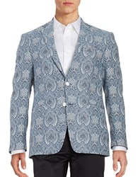 Tallia Orange Paisley Print Sportcoat Blue White